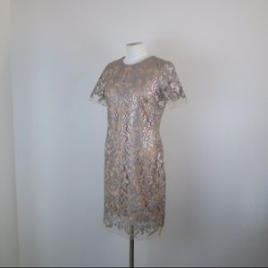 Dress the Population Silver Sequin Dress